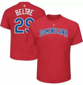 DOMINICAN REPUBLIC WORLD BASEBALL CLASSIC TEE DOMINICANA MAJESTIC ADRIAN BELTRE