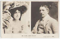 FLORENCE WEST & LEWIS WALLER - Rotary Real Photo - c1900s era Theatre postcard