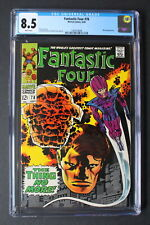 Fantastic Four #78 WIZARD Crystal 1968 THING No More KIRBY Stan Lee CGC VF+ 8.5