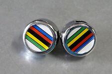CICLOLINA VINTAGE 80's World Champion Stripe Toe Strap End Buttons BX4a R