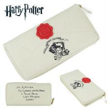 Harry Potter Hogwarts Stamp Letter Long Wallet Zipper Purse Layers Holder Cos