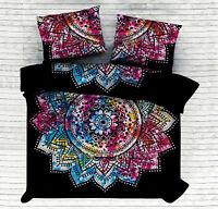 Hippie-Mandala Bettdecke indisch Mehrfarbig Einzeln Bettbezug Ethnische Decke