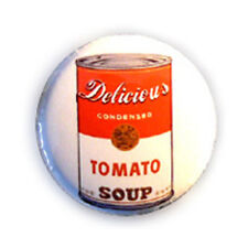 Badge DELICIOUS TOMATO SOUP yummy kawaii tomate pop art culte pin button Ø25mm