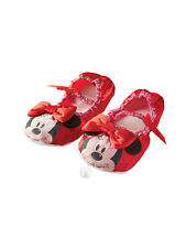 Child Disney Minnie Mouse Red Ballet Shoes Fancy Dress Slippers Kids Girls BN