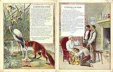 4 Cartes publicitaire LA COTERIE. Vêtement de travail. Vers 1900