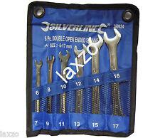 Silverline abierta Llave inglesa Conjunto Herramientas 6 pzas 6mm - 17mm