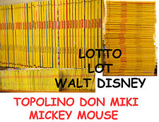 (PRL) LOTTO 332 PZ WALT DISNEY TOPOLINO FUMETTI COMICS MICKEY DON MIKY 1977-2010