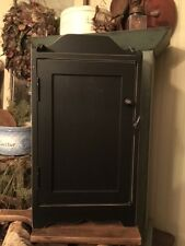 Primitive Black Cupboard  or K Cup Coffee Keeper Rustic Cabin Cottage