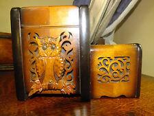 Japanese Musical  Wooden Cigarette Box 1946