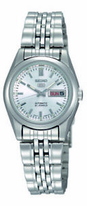 Seiko 5 Classic Ladies Size Silver Dial Stainless Steel Strap Watch