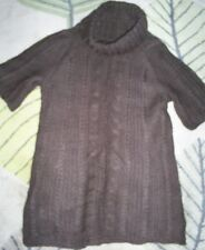Mango Brown Wool Jumper Size Medium Girls Womens Womans Ladies Turtle Neck Polo