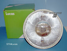 Reflektor 7inch Lucas E nummer H4 gewölbt Headlamp Beam Unit domed rechtsverkehr