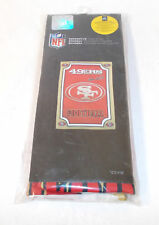 NFL San Francisco 49ers Football Garden Flag Woven Polyester Faux Suede Glitter
