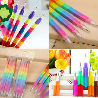 4 Pcs Building Blocks Pencil Creative Stacker Swap Pencils For Children D8Y