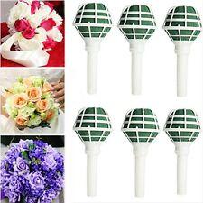 6pcs Craft Flower Handles Floral Foam Wedding Decoration Bride Bouquet Holder