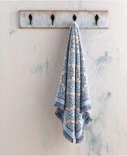 John Robshaw Bath Towel 30x58 Petra Turkish Cotton Blue Modern Home Decor NWT