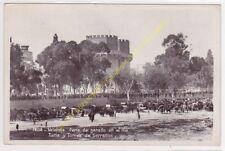 CPSM VALENCIA Feria de ganado en el rio Turia y Torres de Serranos