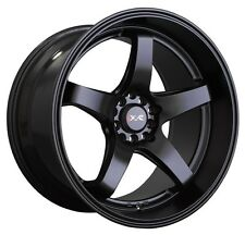 18X8.5/10 XXR 555 Rim 5x100/114.3mm +25 Black Wheels Fits Ford Mustang 350Z 370Z