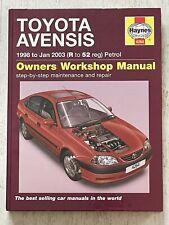 Haynes Manual 4264 - Toyota Avensis, 1998 to 2003, petrol