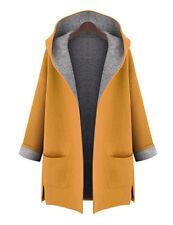 US Women's Winter Warm Hoody Jacket Long Trench Parka Cardigan Overcoat Outwear