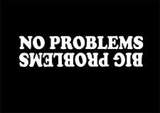 W271 NO PROBLEMS FUNNY CAR STICKER VAN CARAVAN CAMPER 4X4 VINYL DECAL JDM