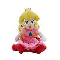 "New Nintendo Super Mario Bros. Princess Peach Plush Doll Stuffed Animal Toy 8"""