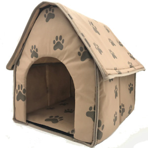 Cat House Indoor Pet Dog Cat Bed Puppy Cushion Soft Warm Nest Foldable Portable