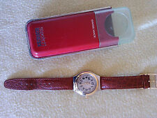 Orologio Swatch Irony Swiss made:Resistente all'acqua,Cinturino pelle,Custodia