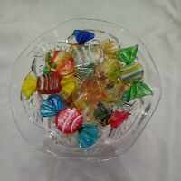 Vintage murano glass candy 22 Pieces With Dish