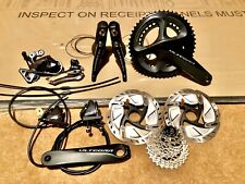 Shimano Ultegra R8020 Hydraulic Disc Brake Flat Mount Groupset Shifters Chainset