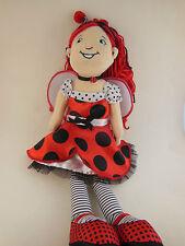 "Manhattan Toy Groovy Girls Lana Ladybug plush doll 14"" excellent clean odor free"