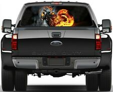 Fire Rider Rear Window Graphic Decal Truck SUV Vans