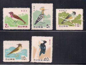 Korea.. 1966  Sc # 730-34  Birds   NGAI   (3-3133)