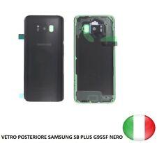 SCOCCA VETRO POSTERIORE RETRO BACK COVER SAMSUNG GALAXY S8 PLUS G955F NERO