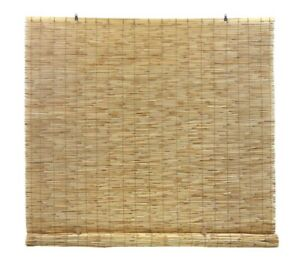 NEW Cordless light Filtering Bamboo Interior/Exterior Roll Up Shade - Natural