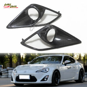 For Toyota GT86 Subaru BRZ Scion FR-S Carbon Fiber Front Fog Light Cover Trim