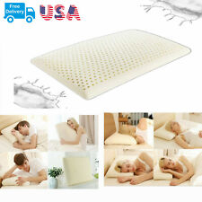 Cervical Natural Latex Pillow Neck Pain Relief Flat Gel Vertebrae Cushion
