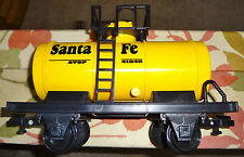 "Scientific Toys ""G"" Santa Fe Tank Car Yellow (Used) -1"