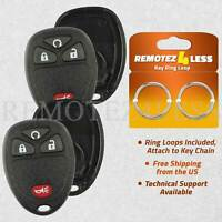 2 for Buick Cadillac Chevy GMC Keyless Remote Car Entry Key Fob Shell Case 4b RS