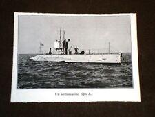 WW1 Prima Guerra Mondiale 1914-1918 Sottomarino tipo L.