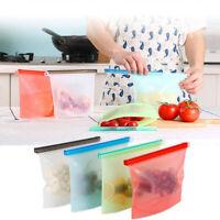 1000ml Reusable Vacuum Silicone Food Bag Sealer Freezer Fruit Storage ContainDRF