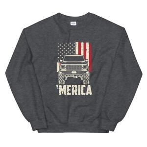 1978-79 Ford Bronco Truck Merica Men's Unisex Sweatshirt
