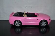 """2005 Pink Barbie Ford Mustang GT Convertible Car 16"""" INCOMPLETE"""