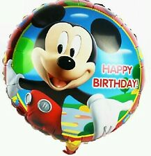 "MICKEY Mouse Buon Compleanno Stagnola Palloncini 18 ""Kids Party Decorazione"