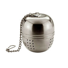 TEA BALL STRAINER INFUSER INFUSE METAL STAINLESS STEEL AD