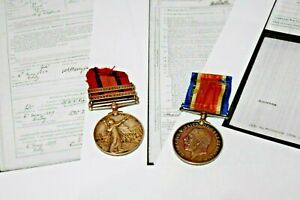 Queens South Africa Medal & 2 Bars & BWM