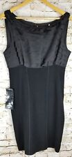NWT BEBE SZ L Black Lined Dress Party Formal Occasion Pageant Cocktail  $149.00