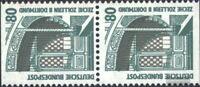 BRD (BR.Deutschland) 1342C/D senkrechtes Paar postfrisch 1989 Sehenswürdigkeiten
