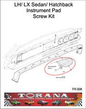 Torana LH/ LX Sedan/ Hatchback Instrument Pad Screw Kit