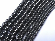 100Pcs Black Round  Spacer Beads Magnetic Hematite Loose Beads For Craft 4mm